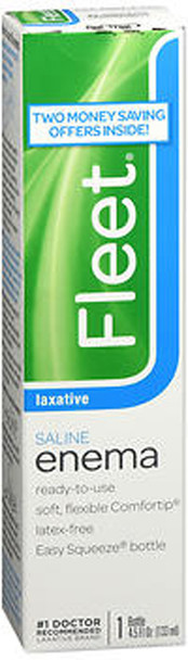 Fleet Saline Enema Laxative - 4.5 oz
