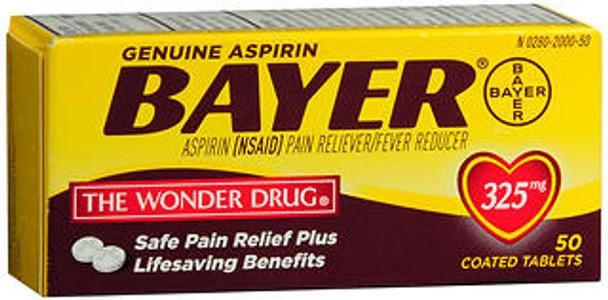 Bayer Safety Coated Aspirin 325 mg Tablets - 50 ct