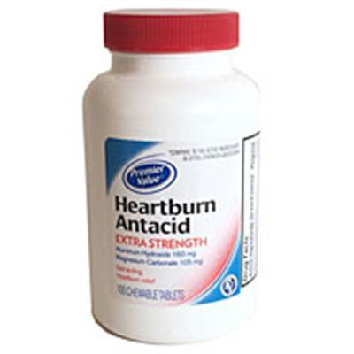 Premier Value Heartburn Antacid Ex Strength 100ct The
