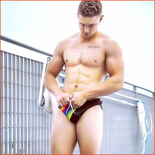 Jack Adams Rainbow Swim Brief Sexy
