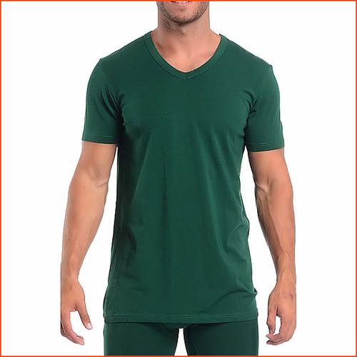 Wood Short Sleeve V Neck T Shirt Comfy