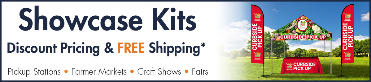 Showcase Kits Discount pricing and free shipping. Pickup Stations Farmers Markets Craft Shows Fair