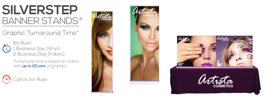 Silverstep Retractable Banner Stands