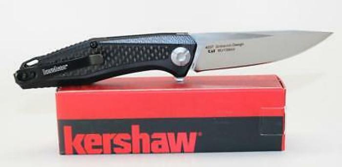 Kershaw Atmos Knife Black G10 Carbon Fiber Handle 8Cr13MoV Plain Edge 4037