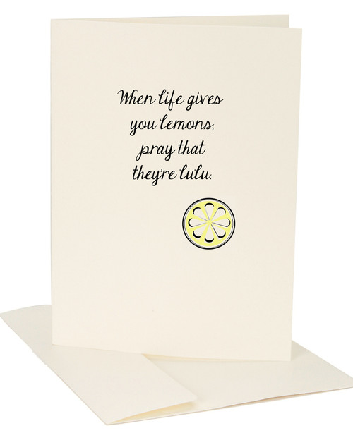 When Life Gives You Lulu Lemons Greeting Card by Jules
