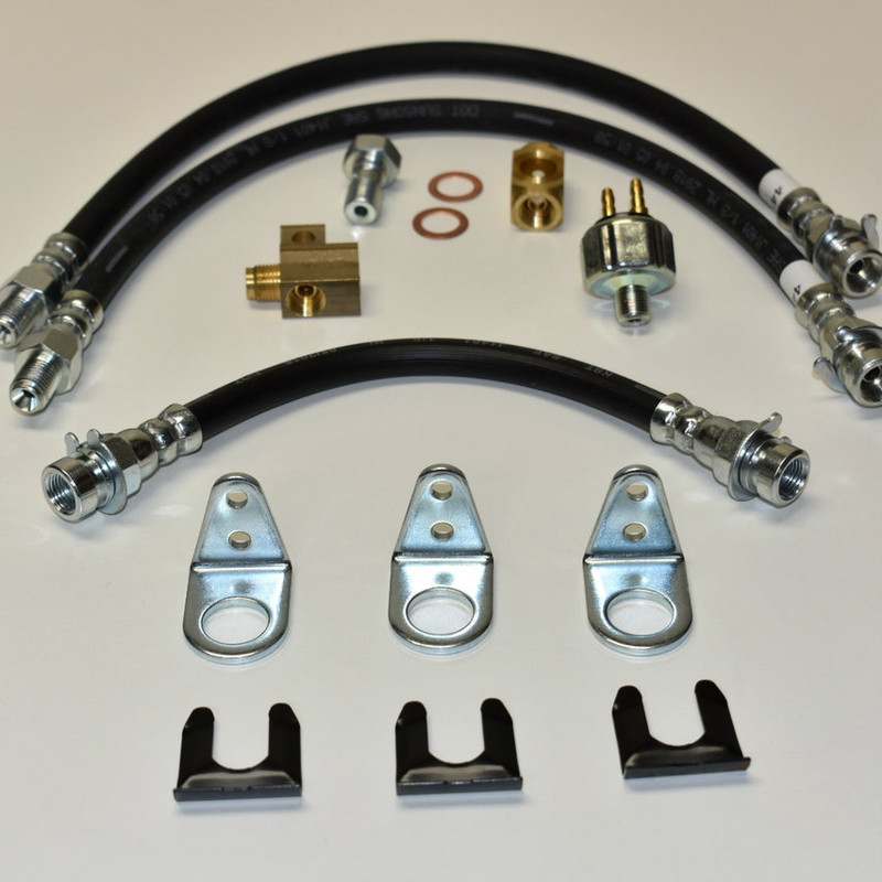 Model A brake hose and fitting kit.
