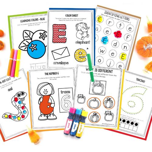 October Preschool Pack