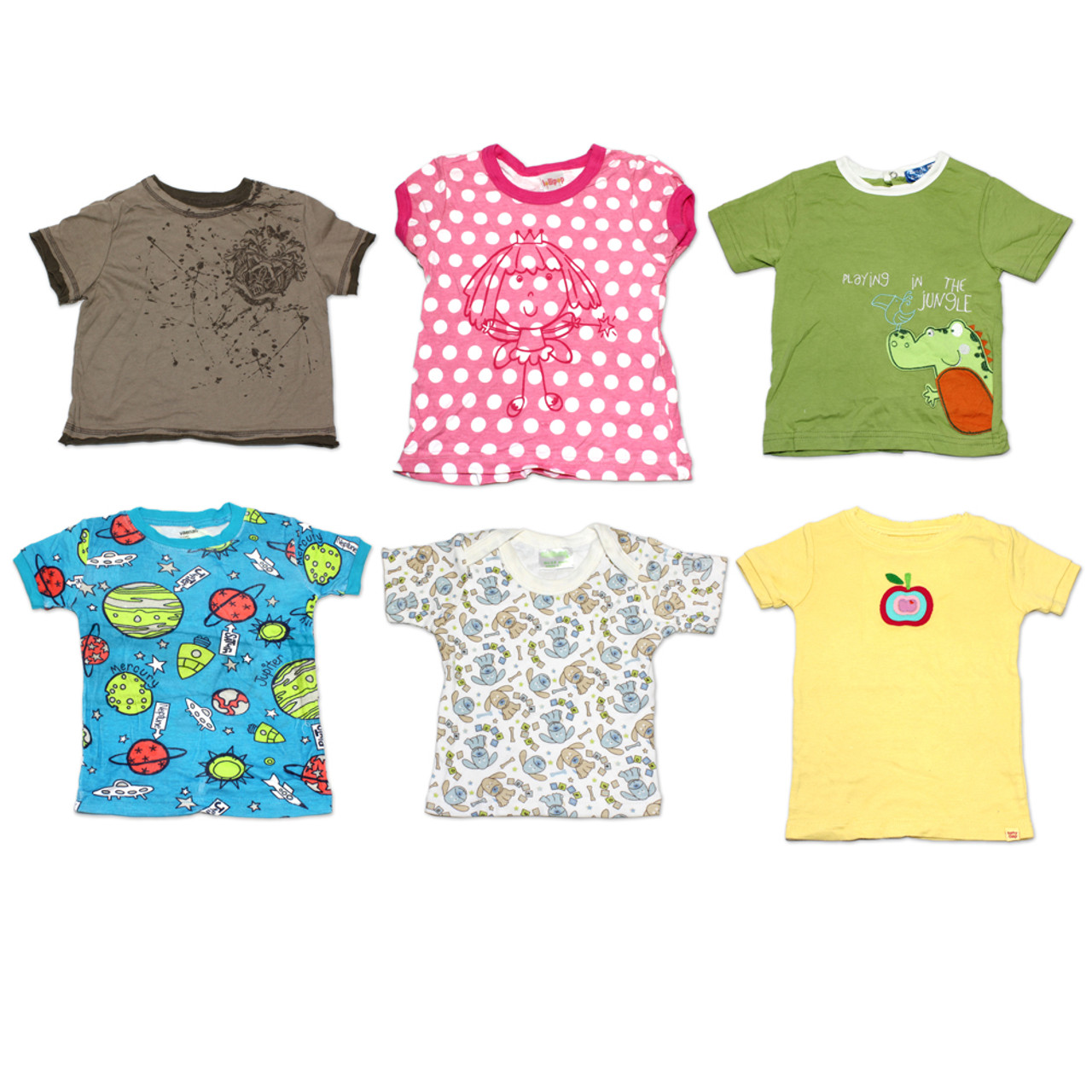 535460ca (72) Children Clothing Wholesale Mixed Styles Sizes Boy Girl Baby T-Shirts