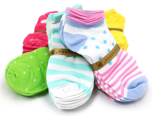 (360) Assorted Styles Mixed Lot Wholesale Women Ankle Socks Low Cut