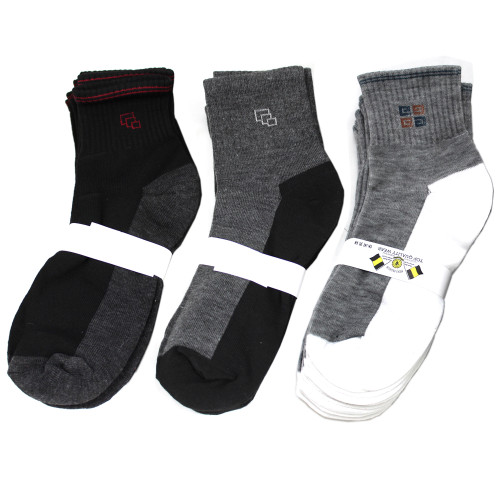 (400) Mixed Lot Assorted Styles Wholesale Men Ankle Crew Socks