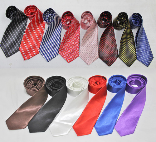 (120) Quality Wholesale Men Accessories Silken Ties Assorted Styles Colors Mixed Lot