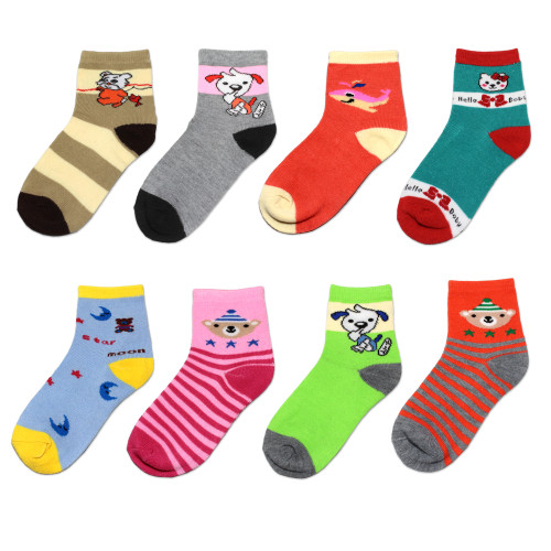 (360) Wholesale Assorted Mixed Styles 360 Pairs Children Ankle Socks Low Cut