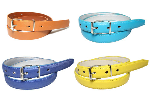 (250) Women Wholesale Synthetic Leather Belts with Assorted Mixed Colors Styles