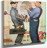 Two Plumbers And A Dog by Norman Rockwell