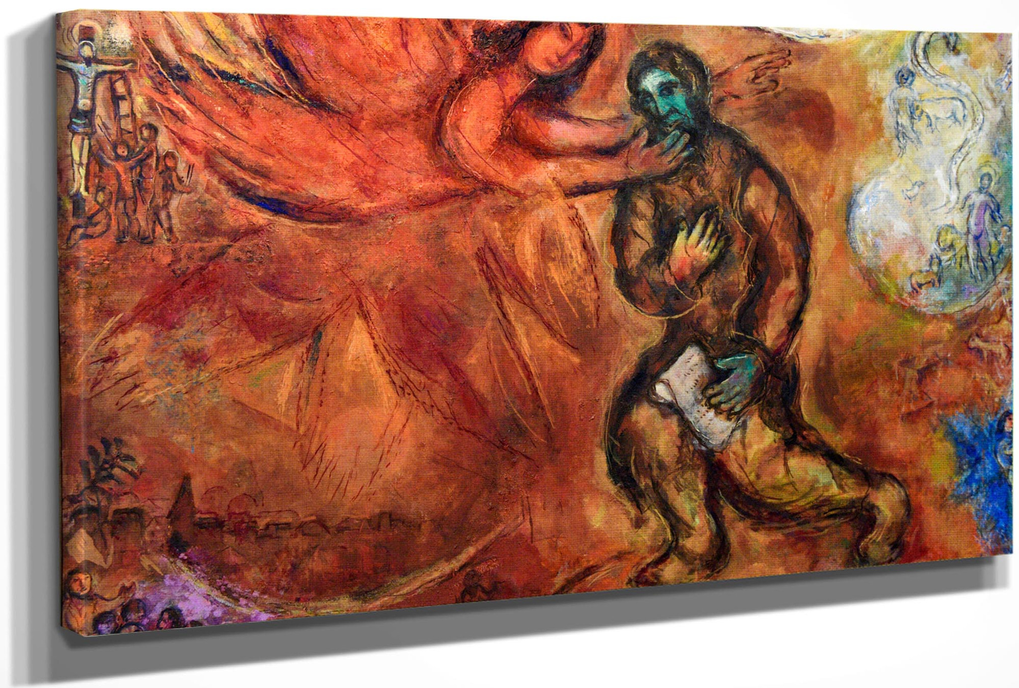 Prophet Isaiah 1968 by Marc Chagall Print from Wanford Art Reproductions.