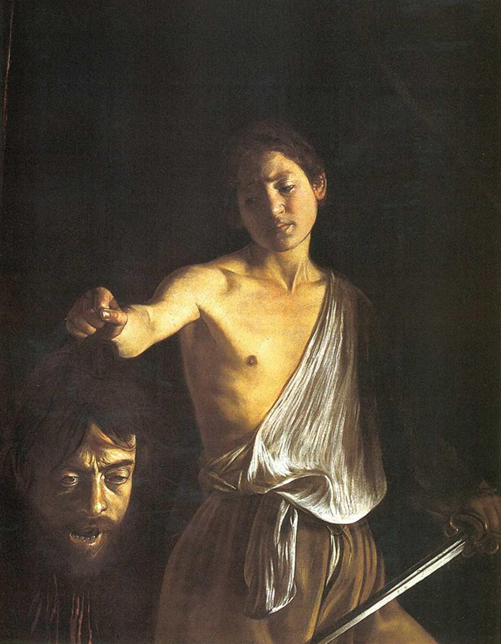 24x36 Caravaggio Art Poster Print David and Goliath II