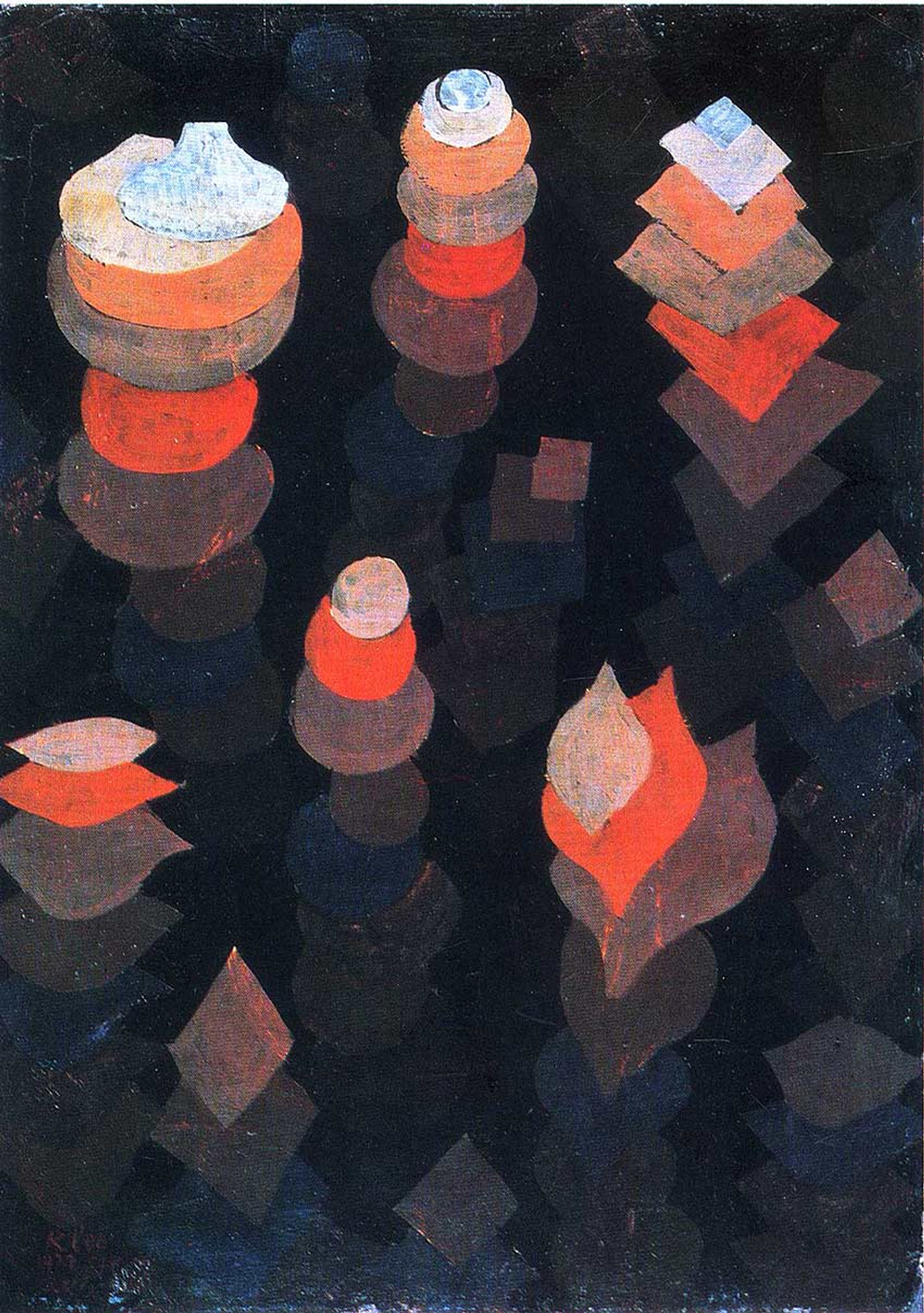 Growth Of The Night Plants 1922 By Paul Klee Art Reproduction From