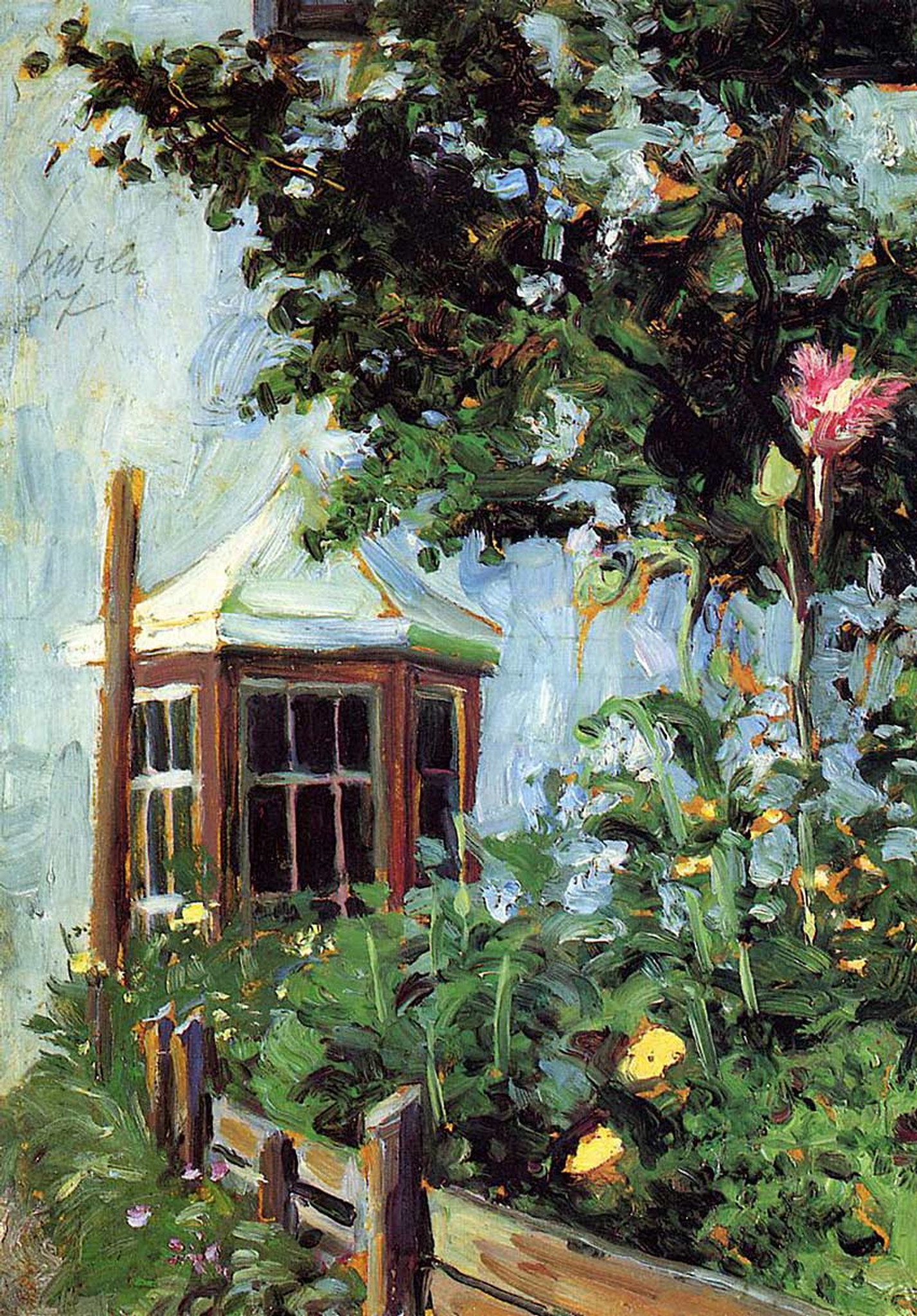 House With A Bay Window In The Garden 1907 By Egon Schiele Art