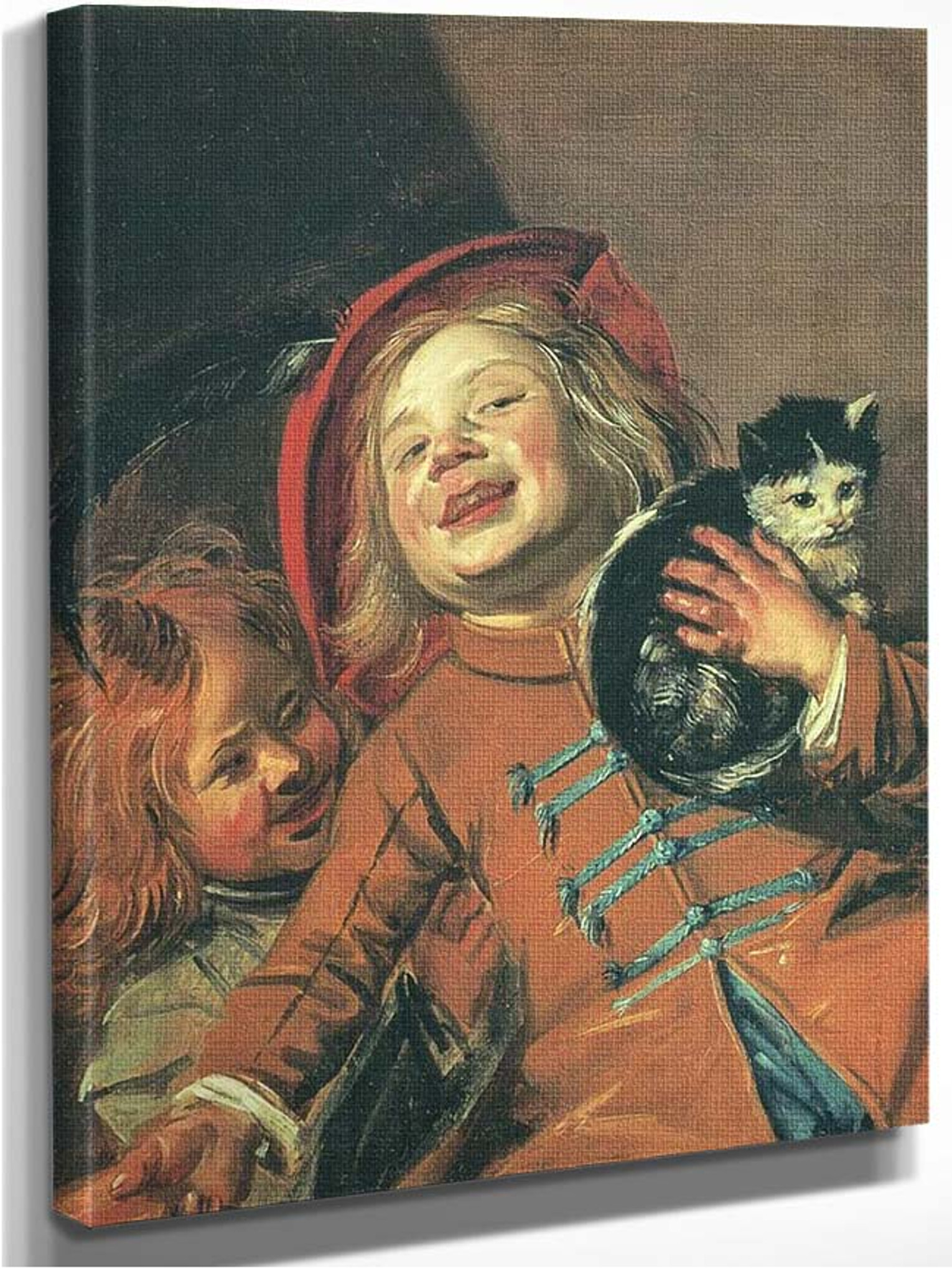 Laughing Children With Cat By Judith Leyster