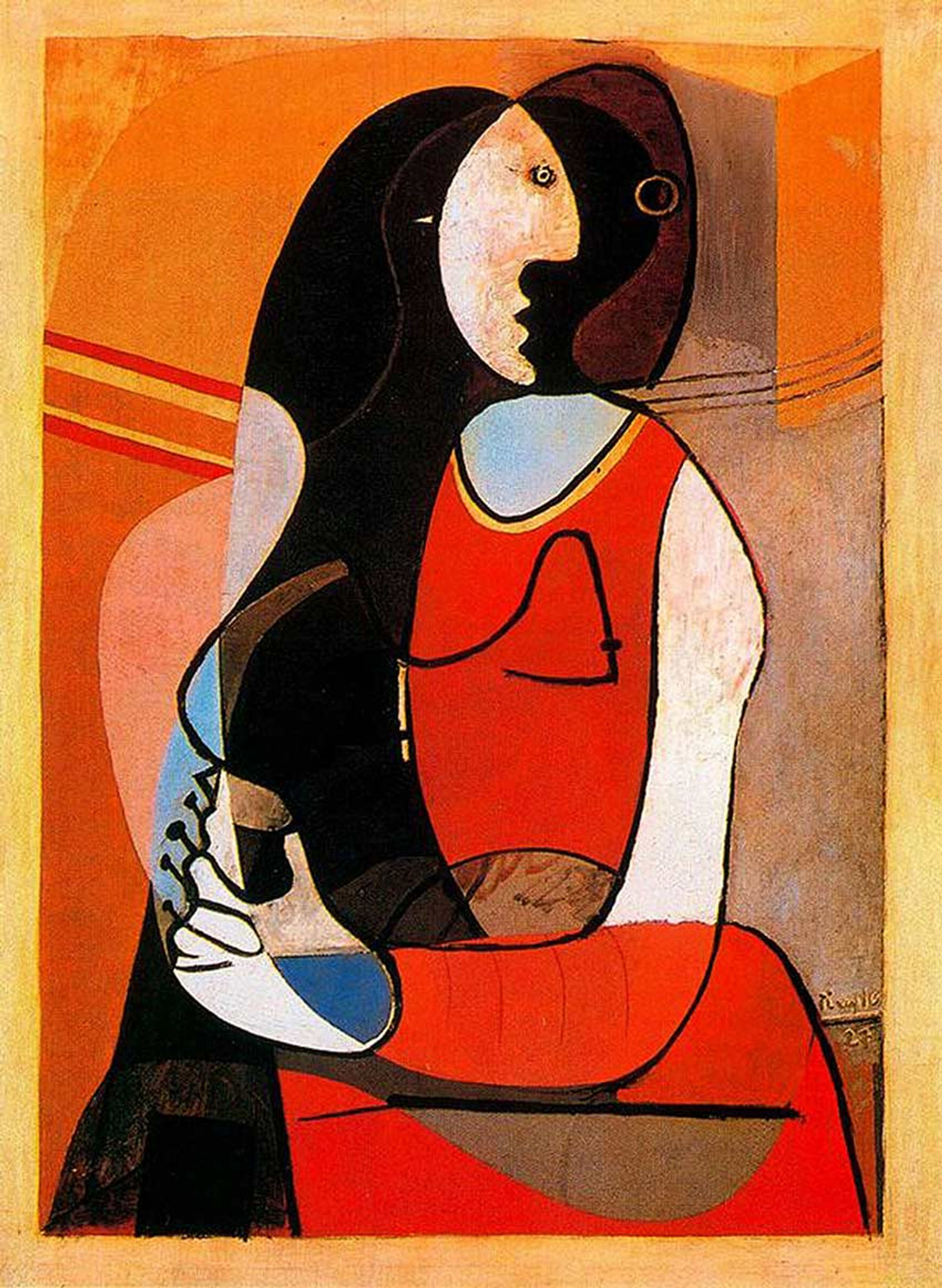 Seated Woman 1927 By Pablo Picasso Art Reproduction from