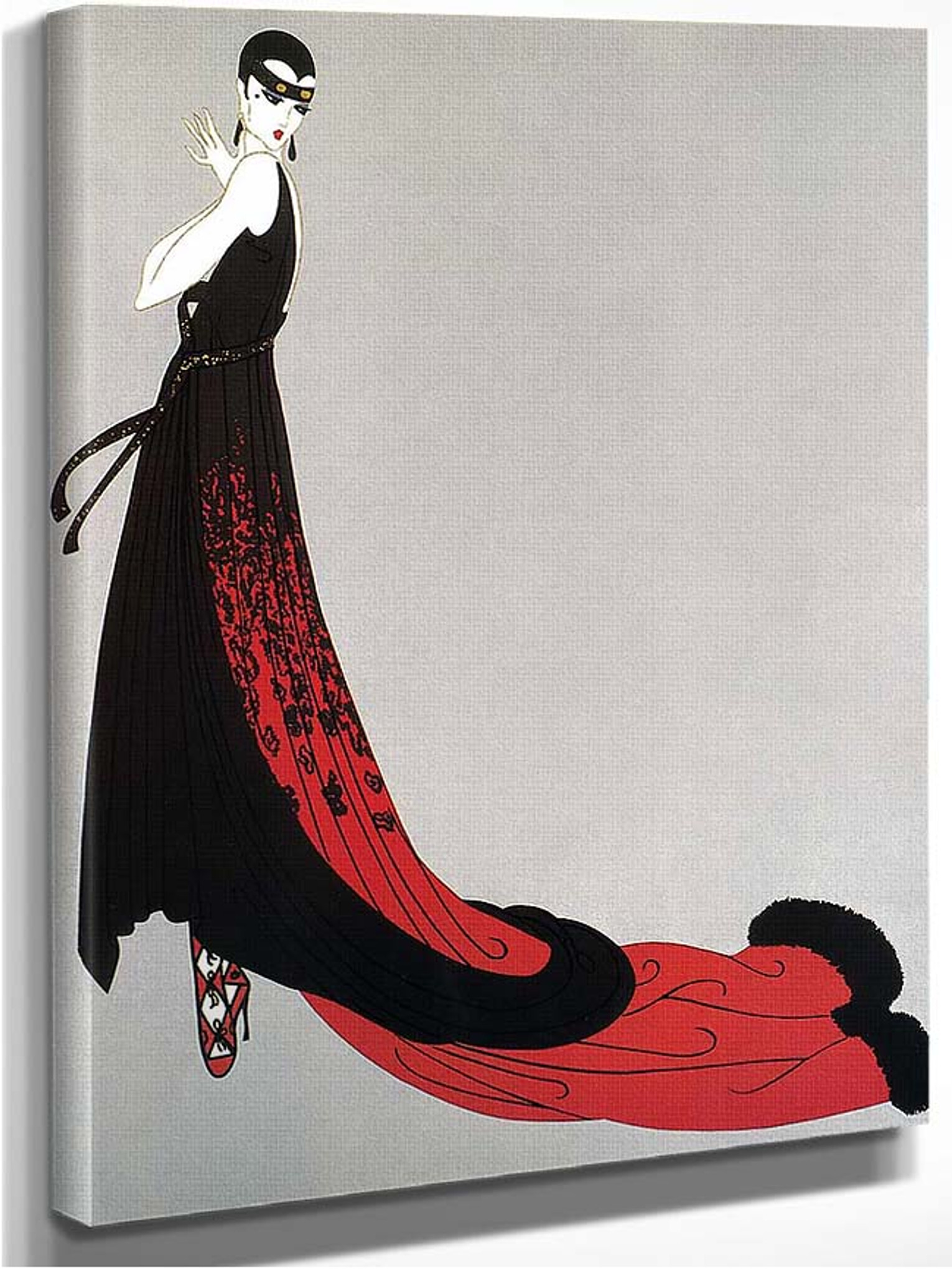 Erte Evening Dress Giclee Canvas Print Paintings Poster Reproduction