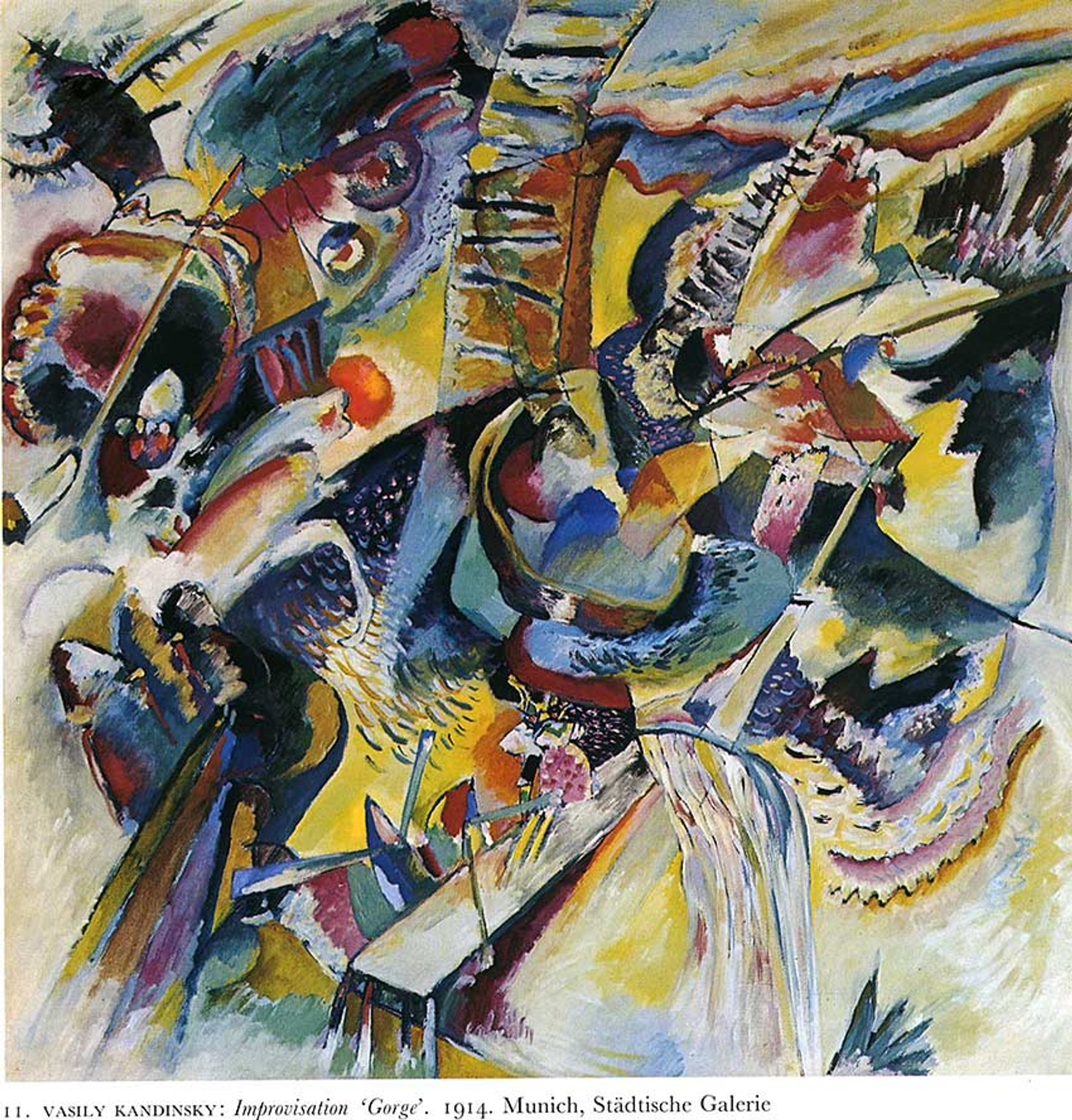 Fugue    by Wassily Kandinsky   Giclee Canvas Print Repro