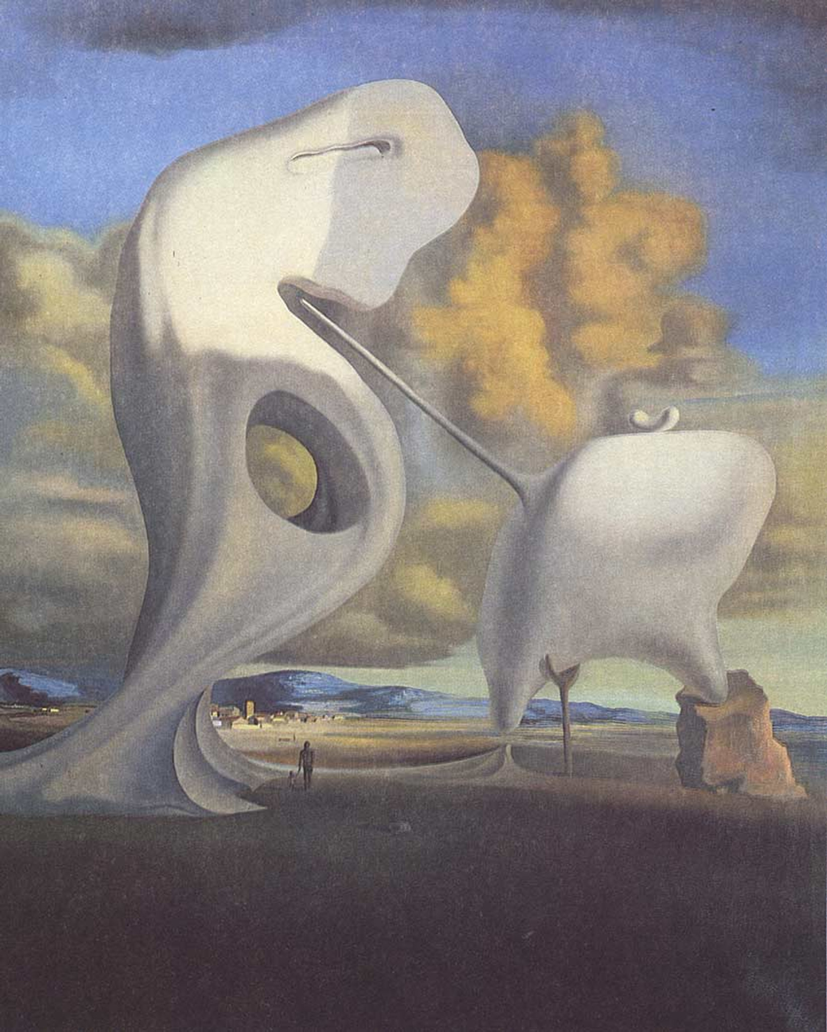 Architectonic Angelus Canvas Wall Art Picture Print Salvador Dali