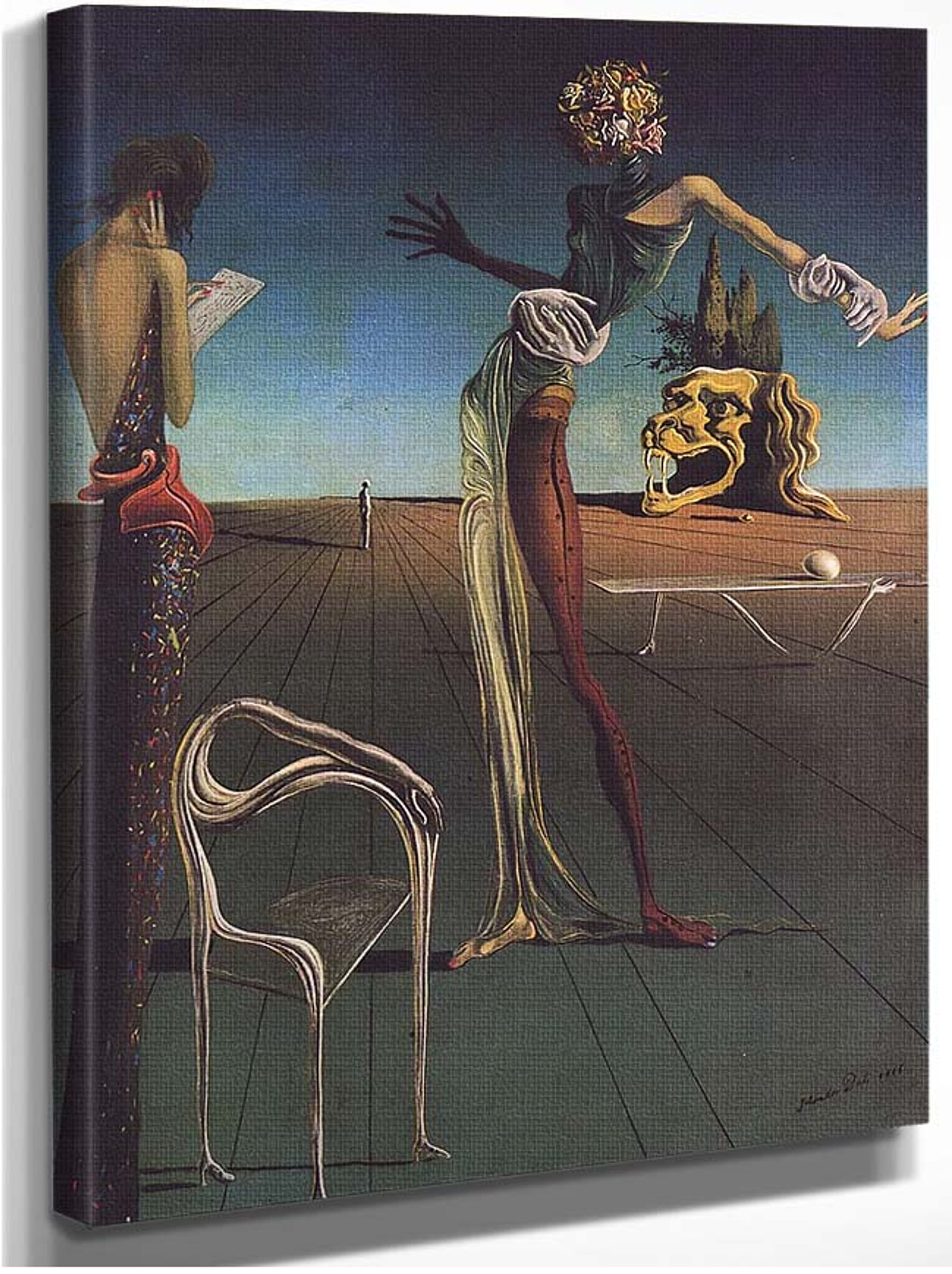 """SALVADOR DALI Painting Poster or Canvas Print /""""Woman Eith a Head of Roses/"""""""