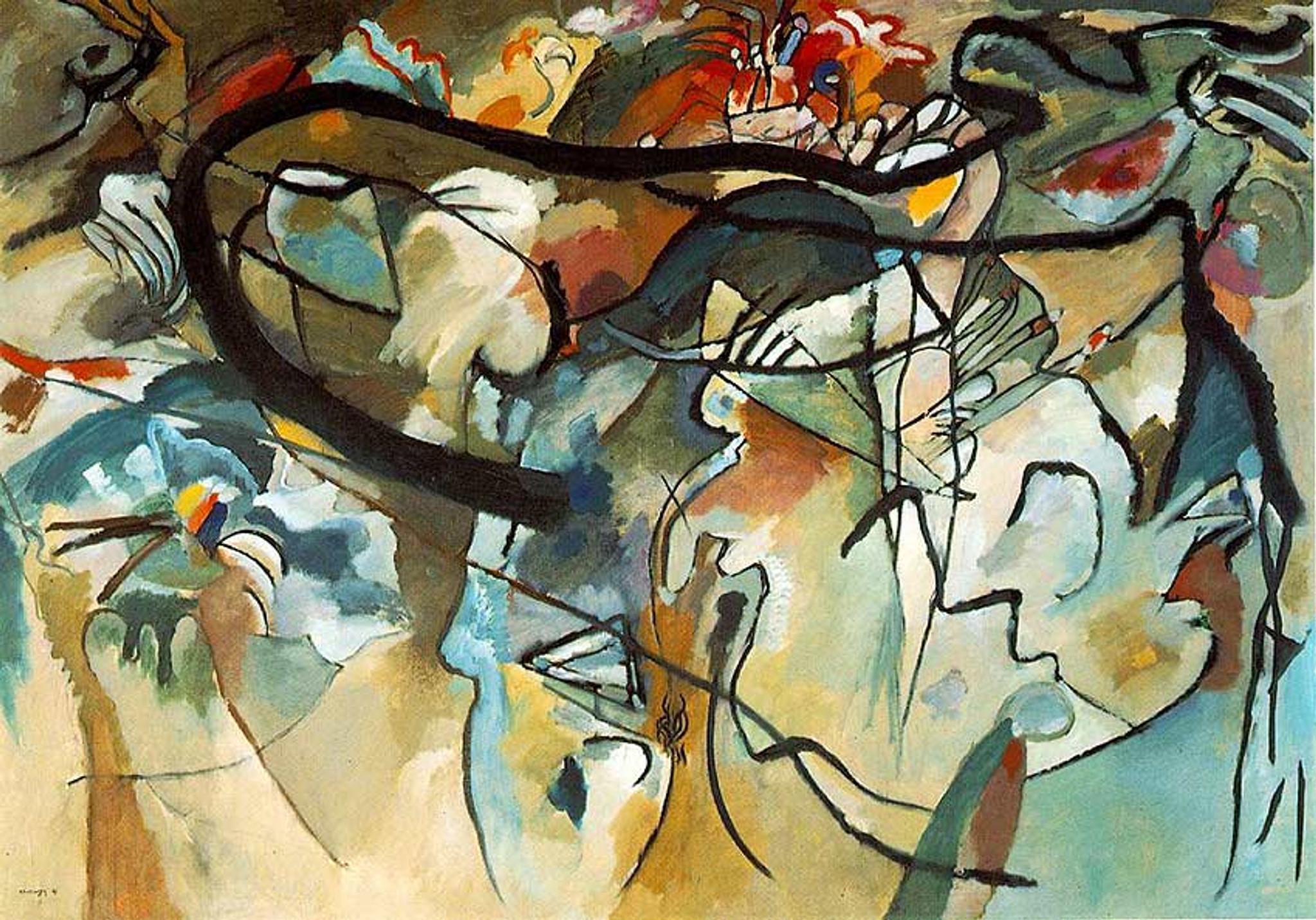An angel of the Last Judgement, 1911 - Wassily Kandinsky