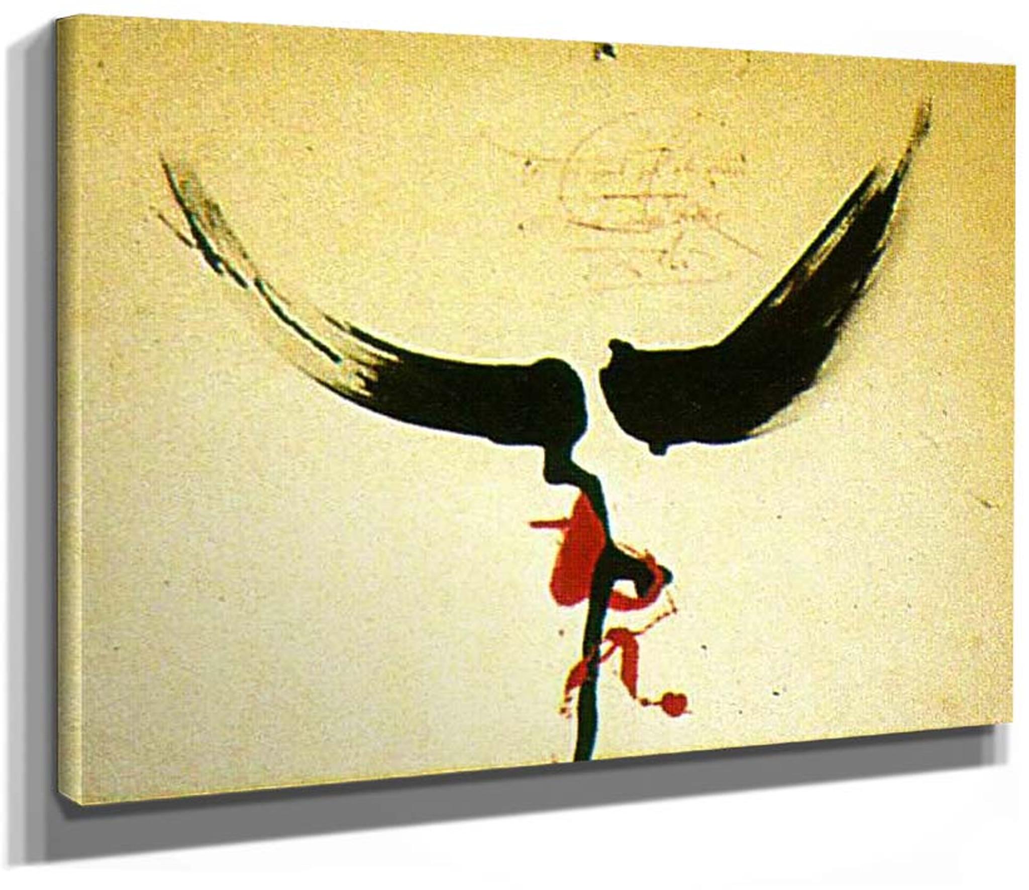 "Bird  by Dali  14/""  Paper Print Repro"