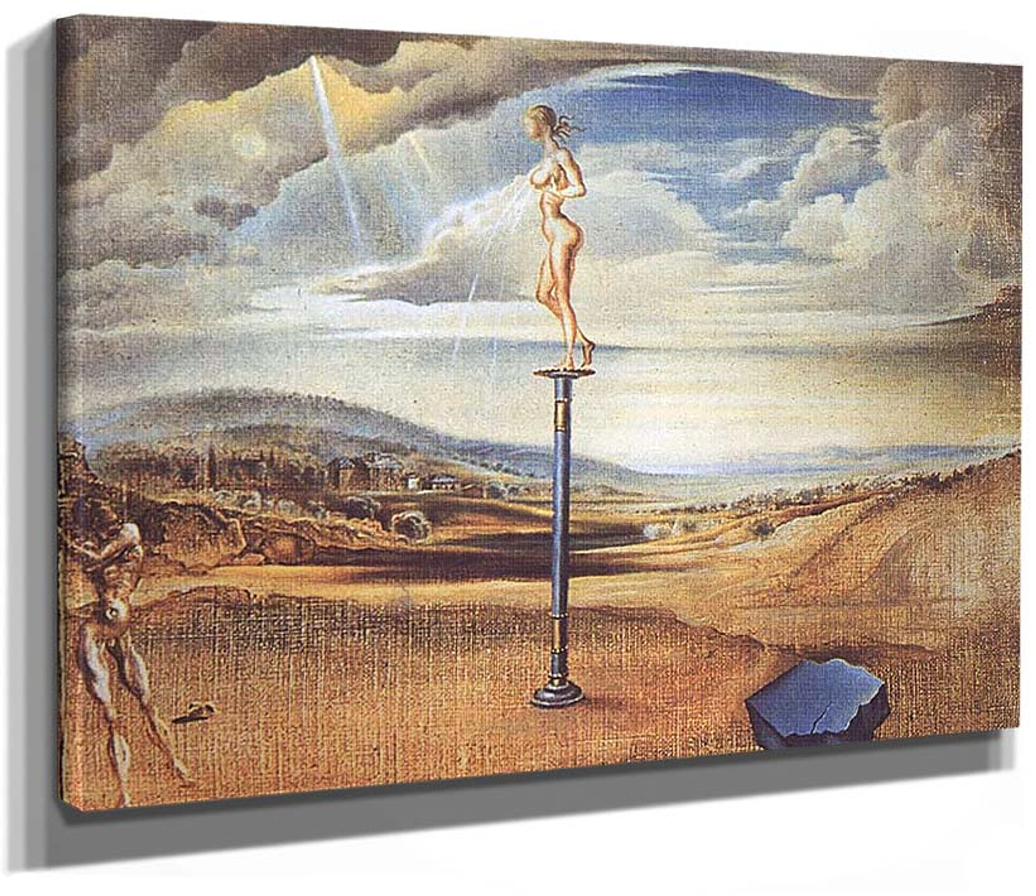 The Three Pines  by Dali   Giclee Canvas Print Repro