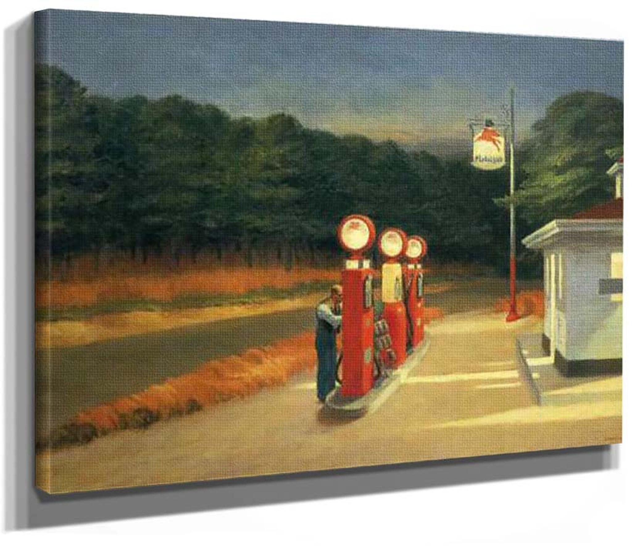 Gas by Edward Hopper   Paper Print Repro