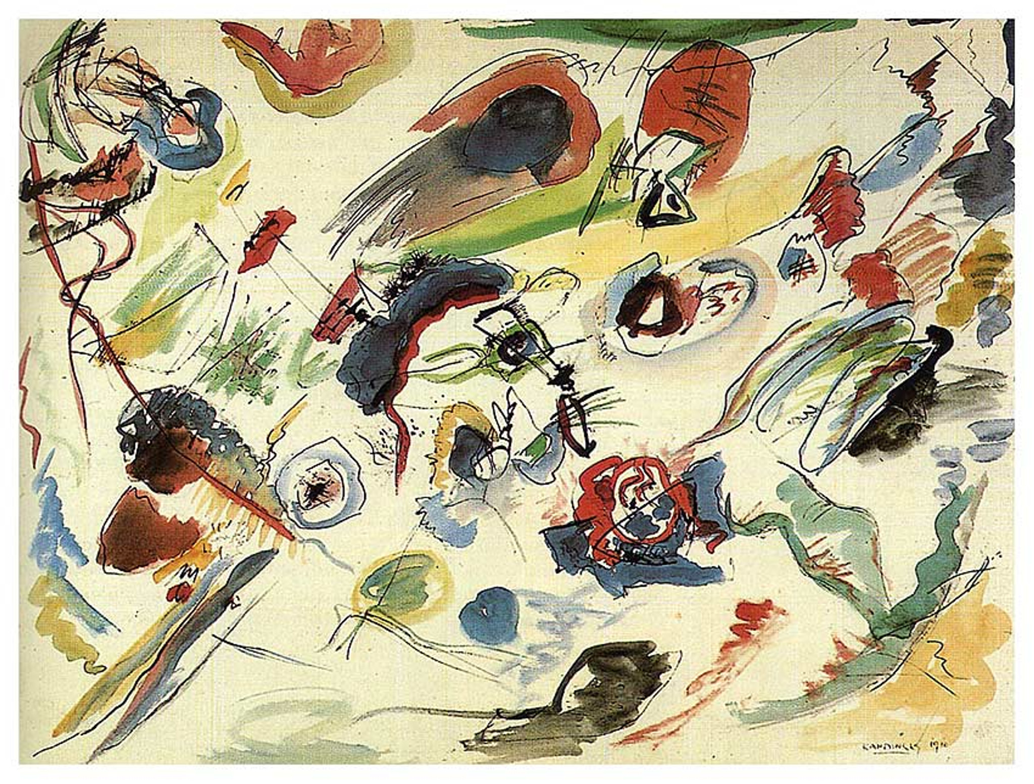 Kandinsky The first abstract watercolour