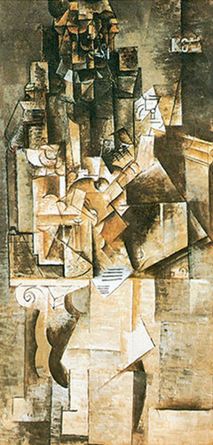Man Wiht A Guitar By Pablo Picasso