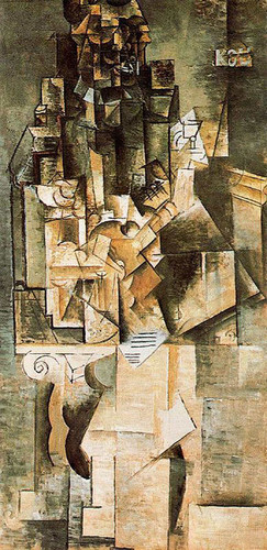 Man With A Guitar 1911 1 By Pablo Picasso