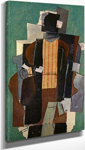 Man With Pipe 1914 By Pablo Picasso