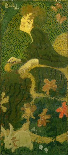 Young Girl Sitting With A Rabbit 1891 By Pierre Bonnard