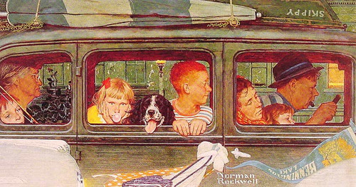 Going And Coming 1947 1 By Norman Rockwell