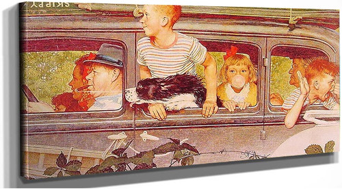 Going And Coming 1947 By Norman Rockwell