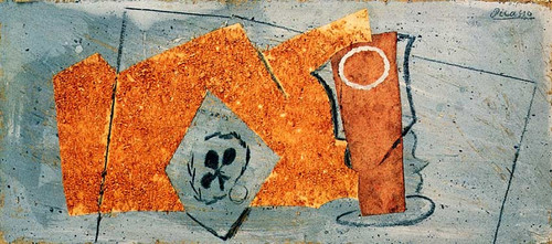 Playing Card And Glass 1914 By Pablo Picasso