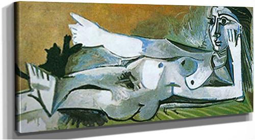 Reclining Nude Playing With A Cat 9 By Pablo Picasso