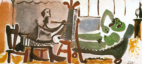 The Artist And His Model 8 By Pablo Picasso
