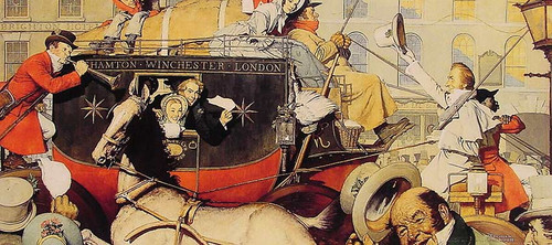 Winchester Stagecoach By Norman Rockwell