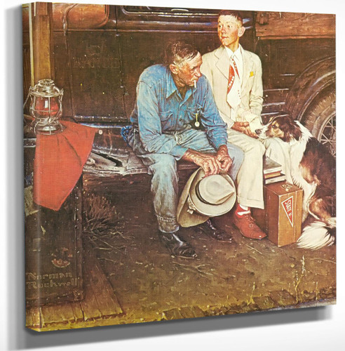 Breaking Home Ties by Norman Rockwell