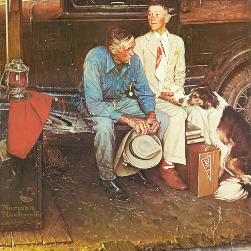Breaking Home Ties by Norman Rockwell Print
