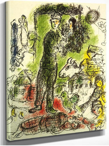 A Big Peasant 1968 By Marc Chagall