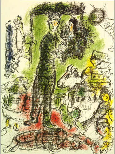 A Big Peasant 1968 By Marc Chagall Art Reproduction from Wanford
