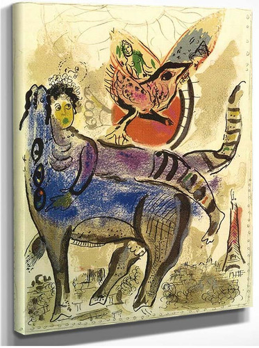 A Blue Cow 1967 By Marc Chagall