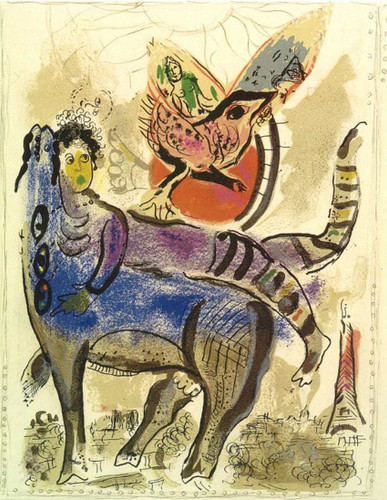 A Blue Cow 1967 By Marc Chagall Art Reproduction from Wanford