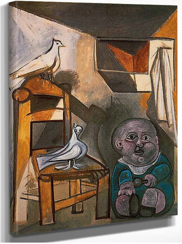 A Child With Pigeons 1943 By Pablo Picasso